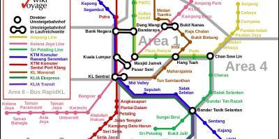 Kuala Lumpur - KL map - Maps Kuala Lumpur - KL (Malaysia) on new york map of areas, las vegas map of areas, vancouver map of areas, singapore map of areas, san francisco map of areas, phuket map of areas, boston map of areas,